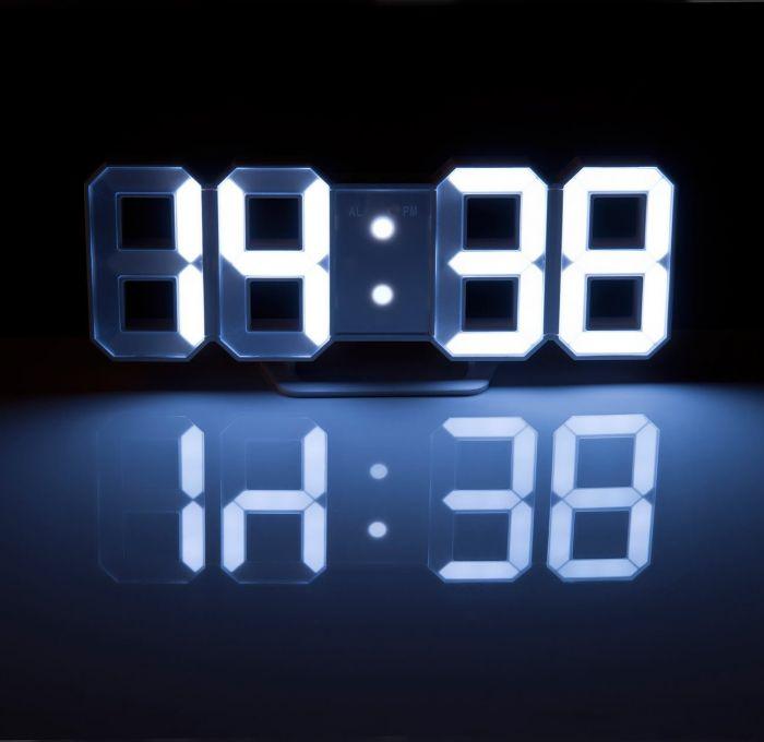 3d digitaluhr mit wecker 2in1 led wanduhr tischuhr digital. Black Bedroom Furniture Sets. Home Design Ideas