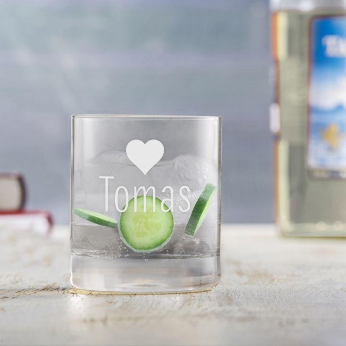 Personalisierte Tumbler Gläser Herz - 2er Set