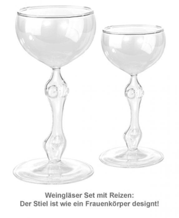 Sexy Weingläser - 2er Set