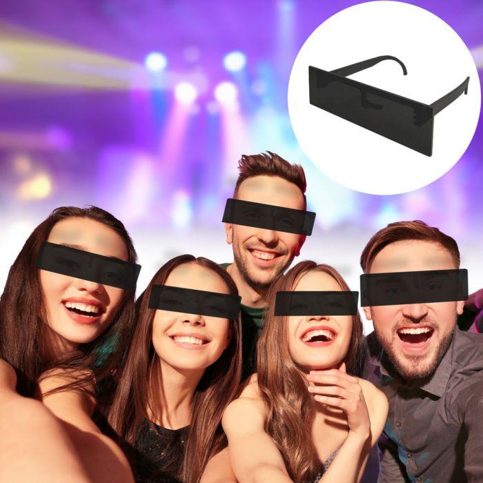 Zensurbrille - Schwarzer Balken Partybrille