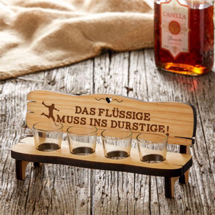 Vierer Schnapsbank - Das Flüssige muss ins Durstige