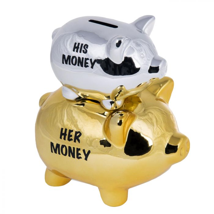 Sparschwein für Paare - His Money / Her Money
