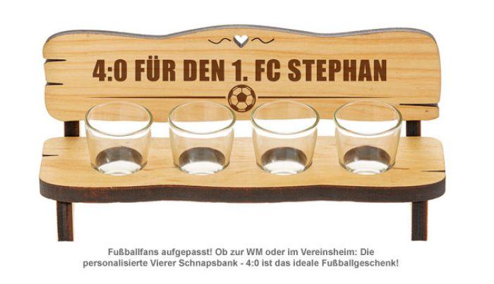 Personalisierte Vierer Schnapsbank - 4:0