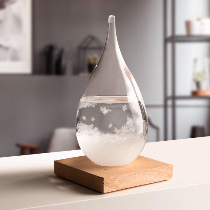 Sturmglas zur Wettervorhersage - Tropfen