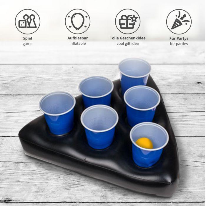 Aufblasbarer Bierpong Hut - Mini Beer Pong Set