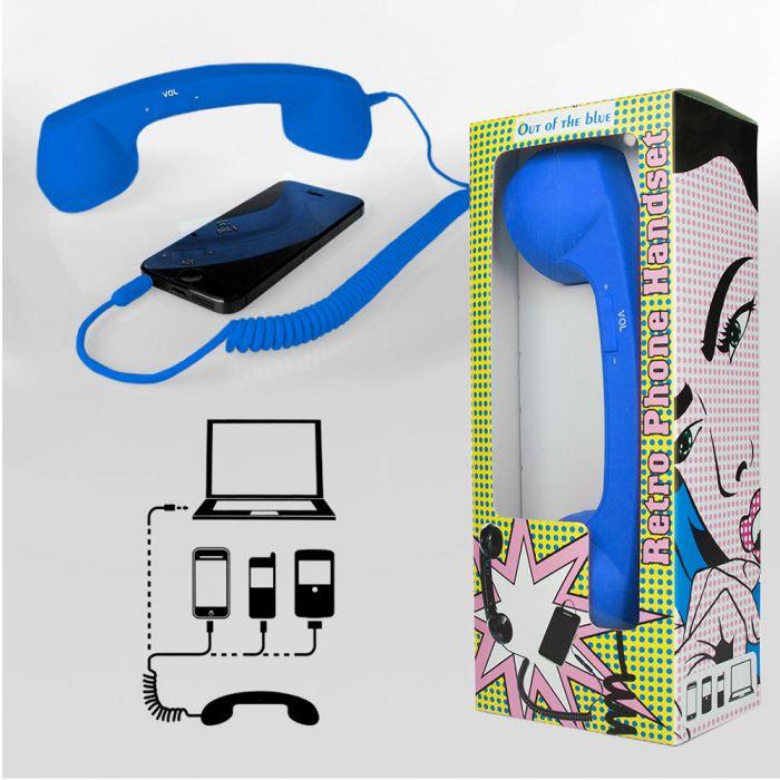 Telefonhörer für Handys - blau
