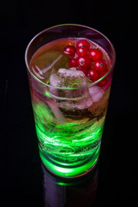 Leuchtglas mit Touch Funktion - grün