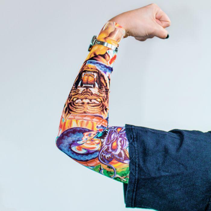 Tattoo Ärmel - Tiger and Dragon