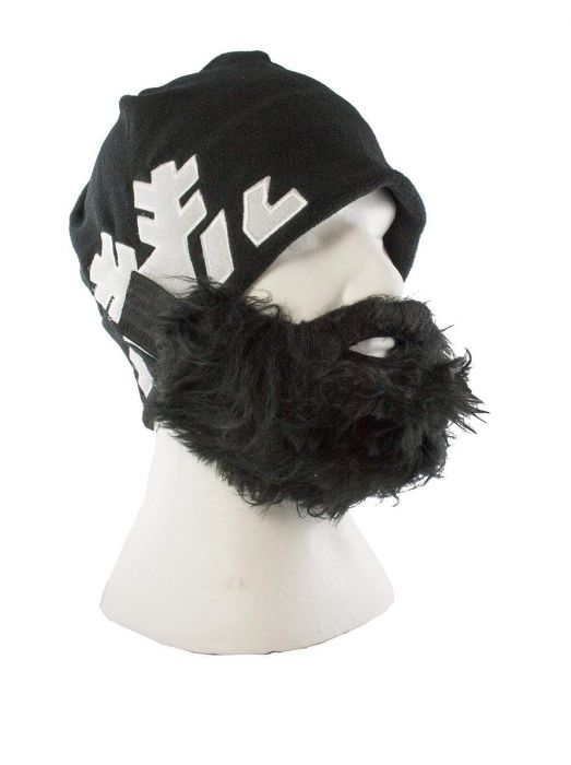 Bartmütze Snowflake - schwarz