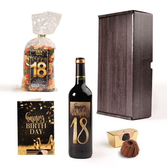 Geschenkbox zum 18. Geburtstag
