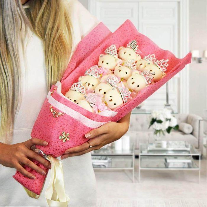 Teddybär Strauß in Geschenkbox