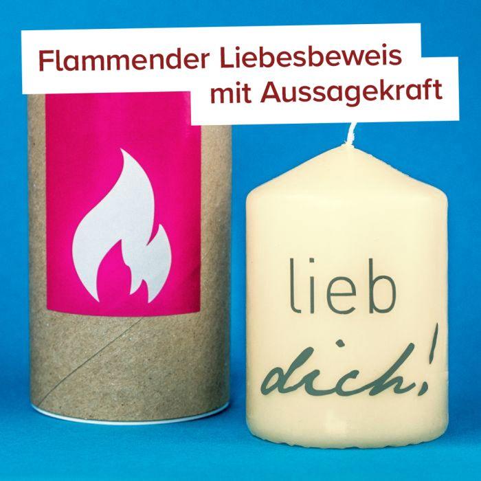 Lieb Dich! - Kerze