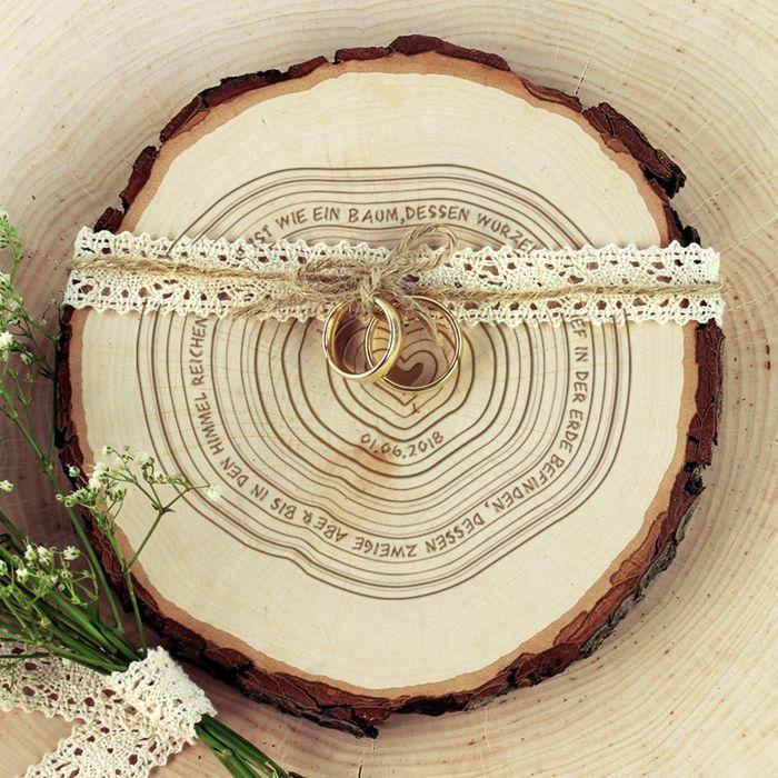 Baumscheibe mit Gravur - Jahresringe