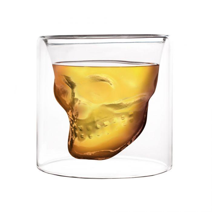 Doppelwandiges Schnapsglas - Totenkopf