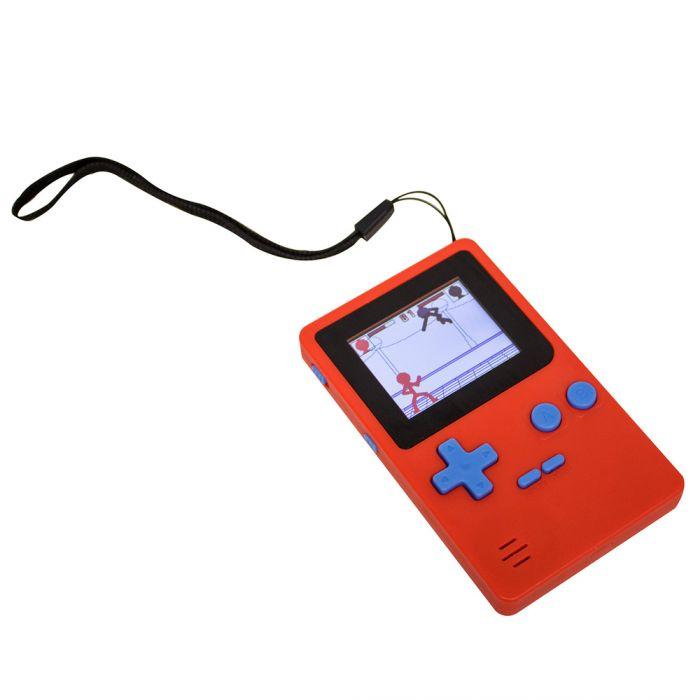 Retro Mini Spielekonsole mit 152 Spielen - rot