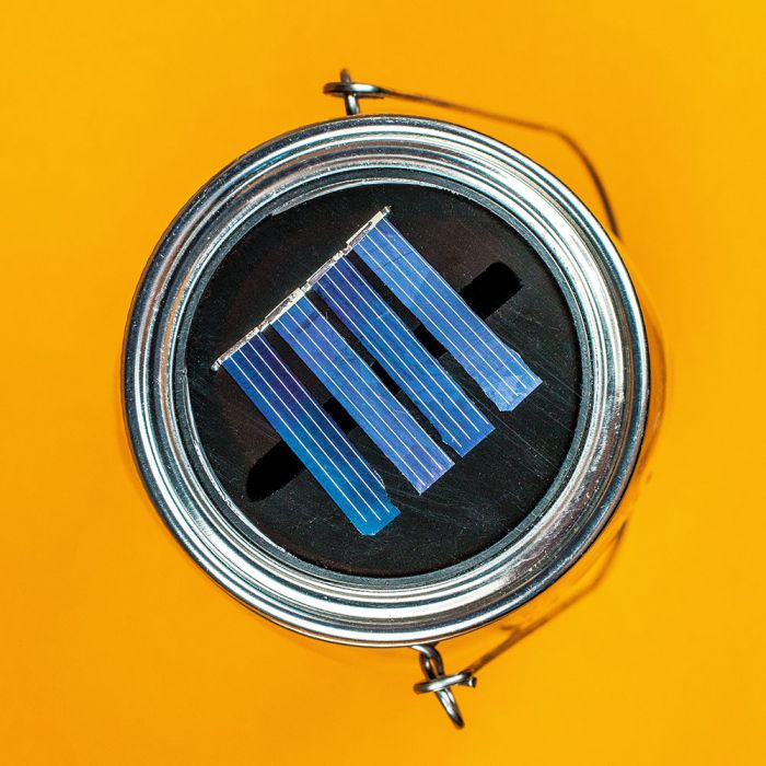 Solarlampe im Glas