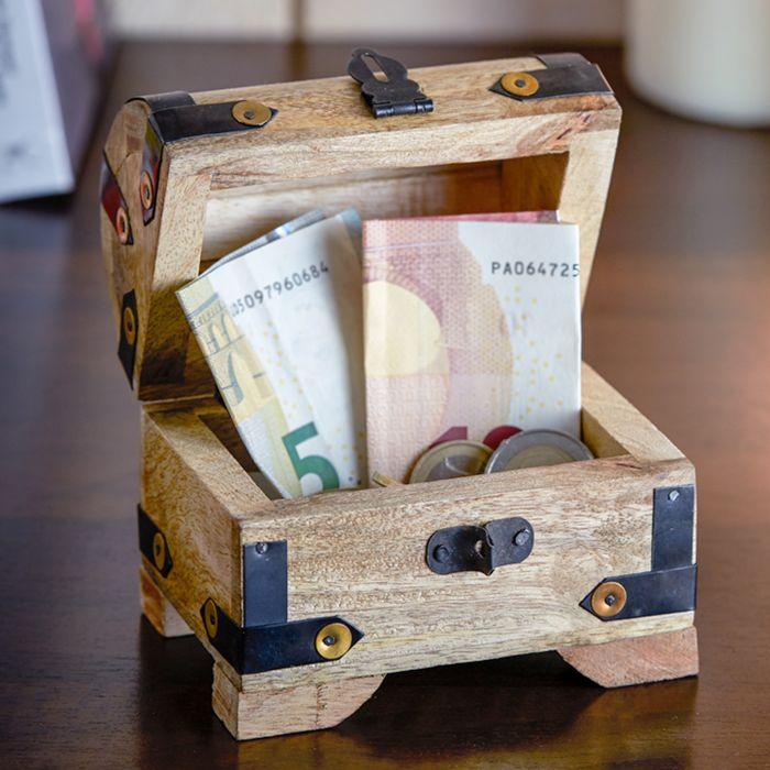Mini Geld Schatztruhe zum Abitur