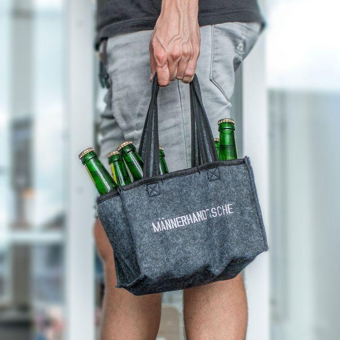 Männerhandtasche aus Filz