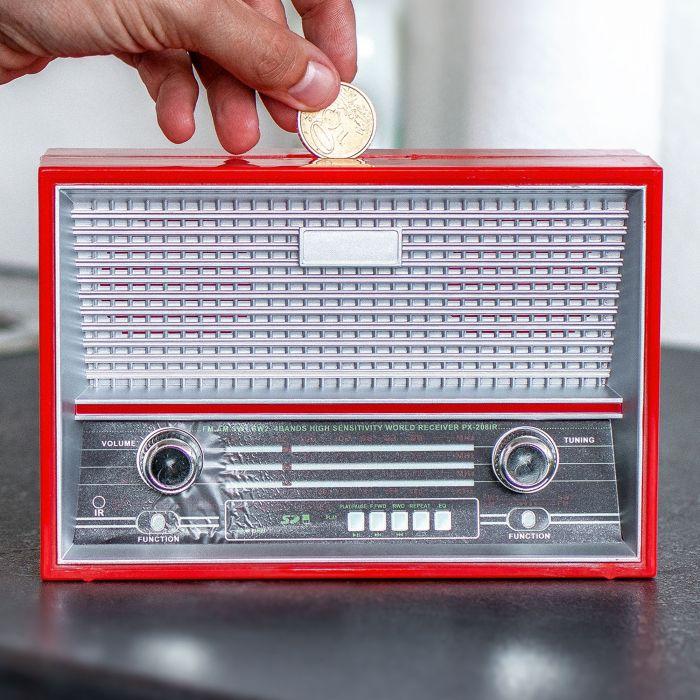 Spardose Vintage Radio - rot