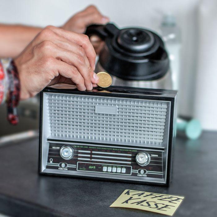 Spardose Vintage Radio - schwarz