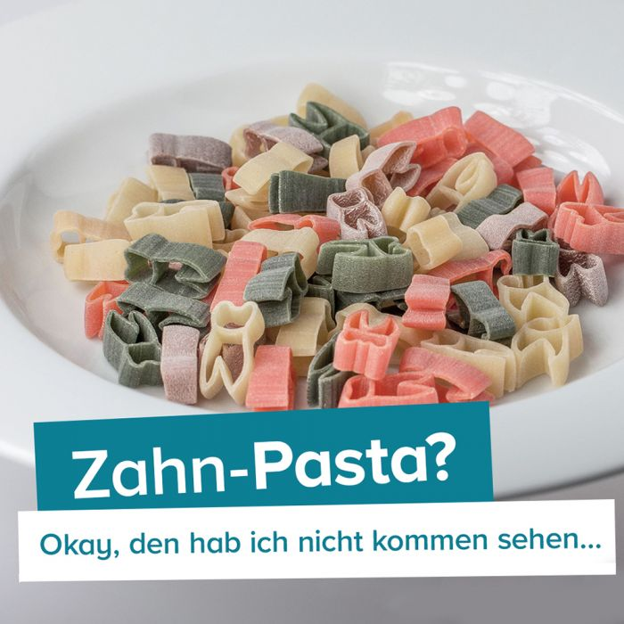 Zahn Pasta - 250 g bunte Nudeln