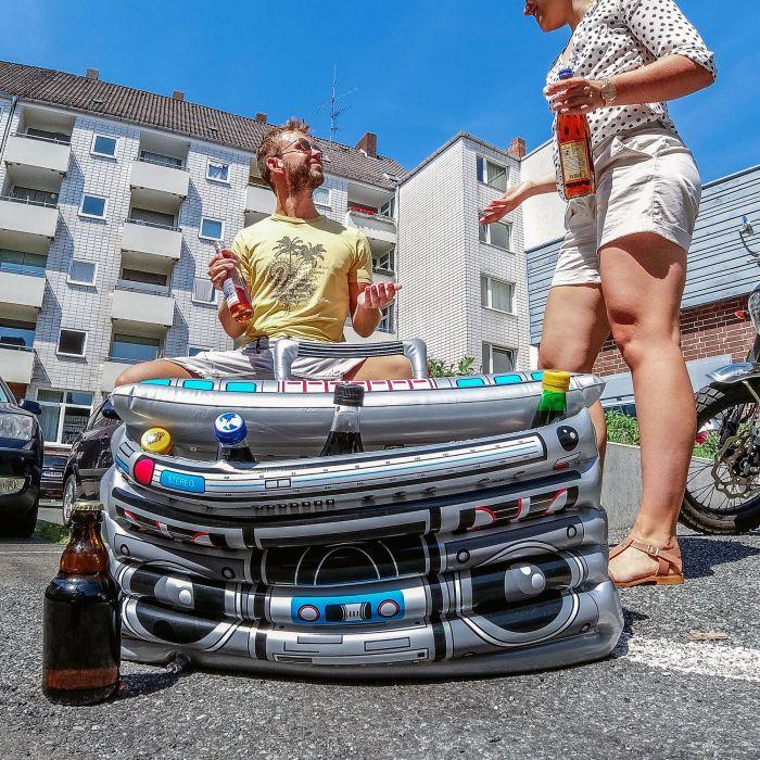 Aufblasbarer Ghettoblaster - Getränkekühler