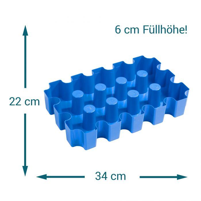 Bierkühler - Eisblockform für Bierkisten - 0,33 l Flaschen