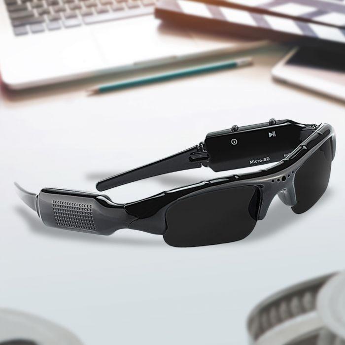 Sonnenbrille mit Actioncam und Mikrofon
