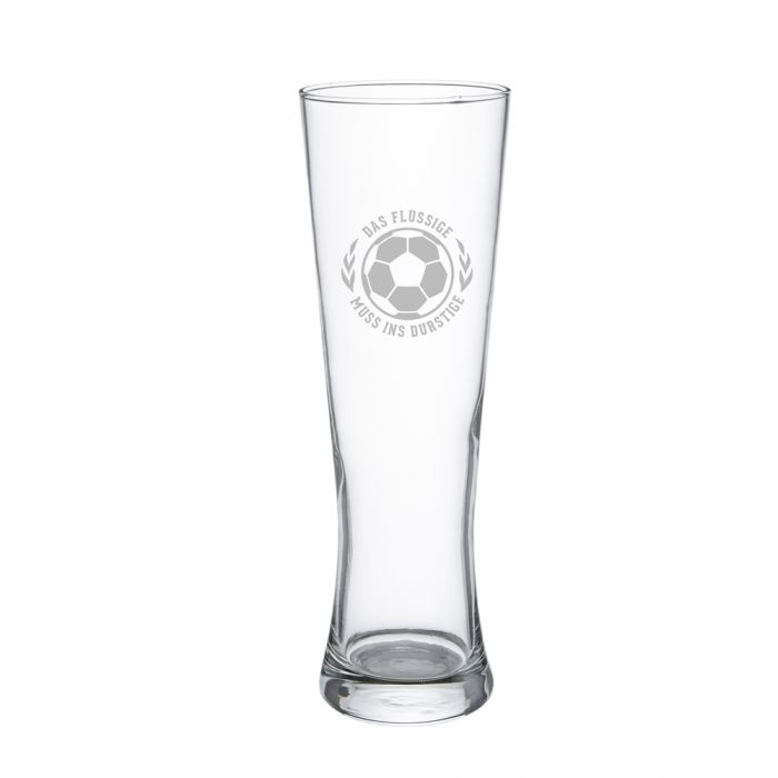 Weizenglas mit Gravur - Das Flüssige muss ins Durstige
