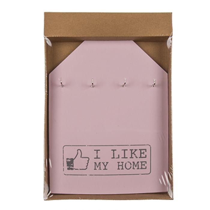 Schlüsselbrett - I like my home - rosa