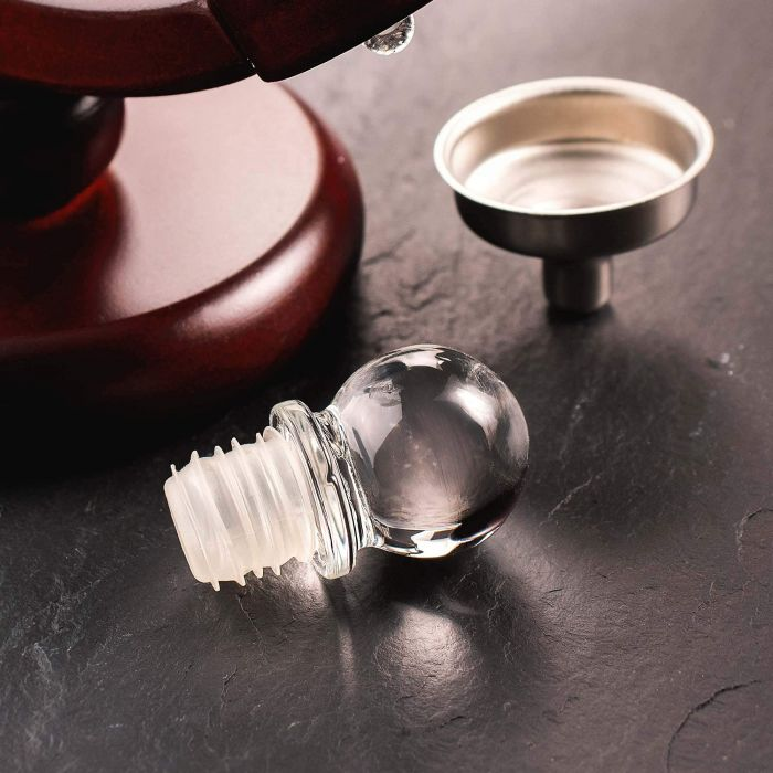Whisky Set mit Globus Karaffe und 2 Gläsern - Segelschiff