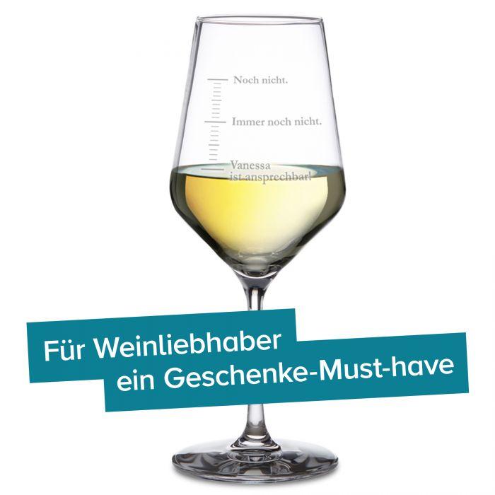 Weißweinglas mit Gravur - Nicht ansprechen