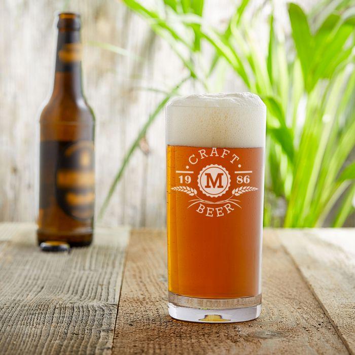Craft Beer Glas mit Initialen Gravur - Ähren