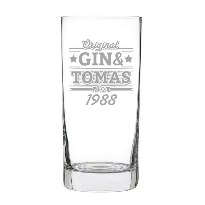 Cocktailglas mit Gravur - Gin