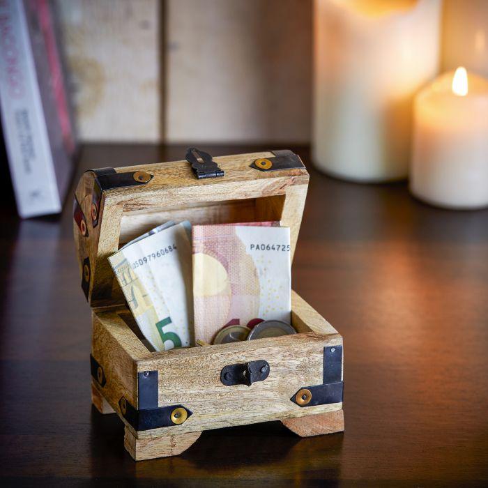Mini Geld Schatztruhe zum 18. Geburtstag