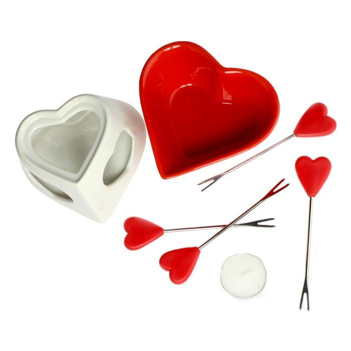 Schokofondue Set in Herzform