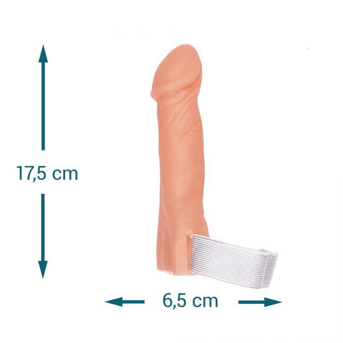 Penis mit Beinschlaufe als Scherzartikel