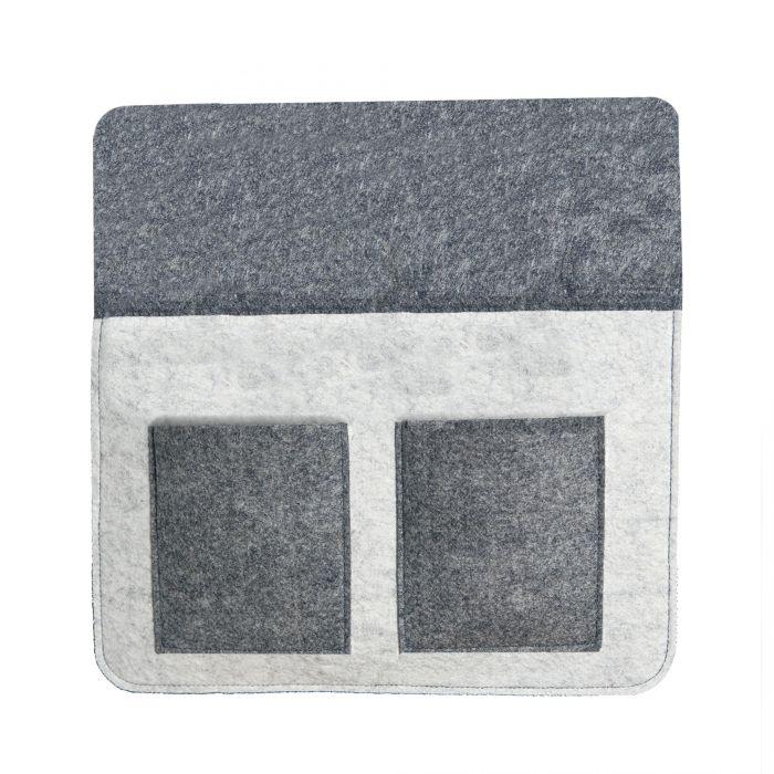 Bettablage zum Einhängen - grau