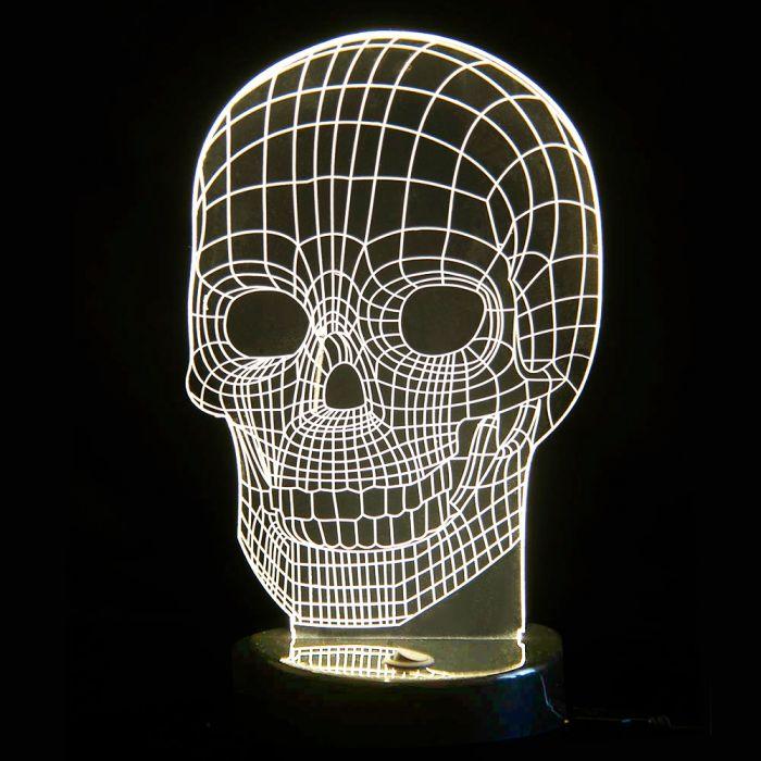 3D Tisch Leuchte - Totenkopf