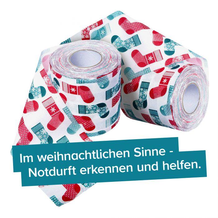 Bedrucktes Toilettenpapier - Weihnachtsstrumpf - 2er Set