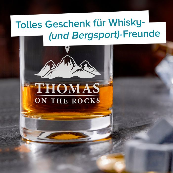 Personalisiertes Whiskyglas - On the Rocks