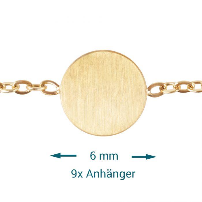 Layering Kette mit Plättchen - Gold