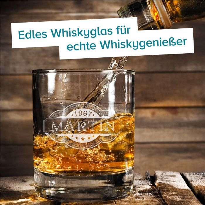 Whisky Set Banderole - Whisky Steine und Glas