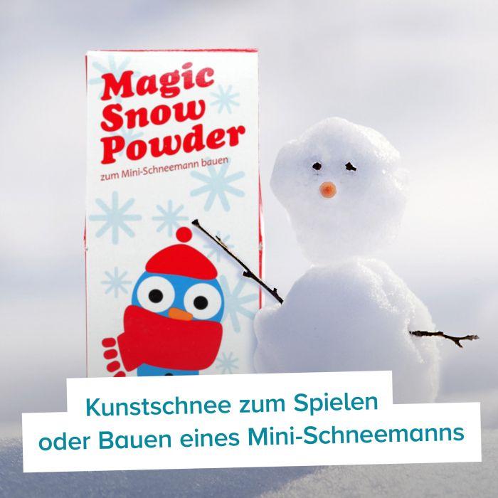 Zauberschnee - Magisches Pulver für Kunstschnee