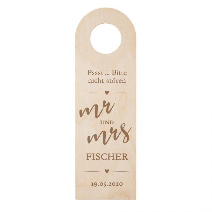 Türhänger mit Gravur - Mr und Mrs