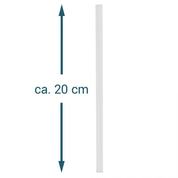 Glas Strohhalme - 4er Set