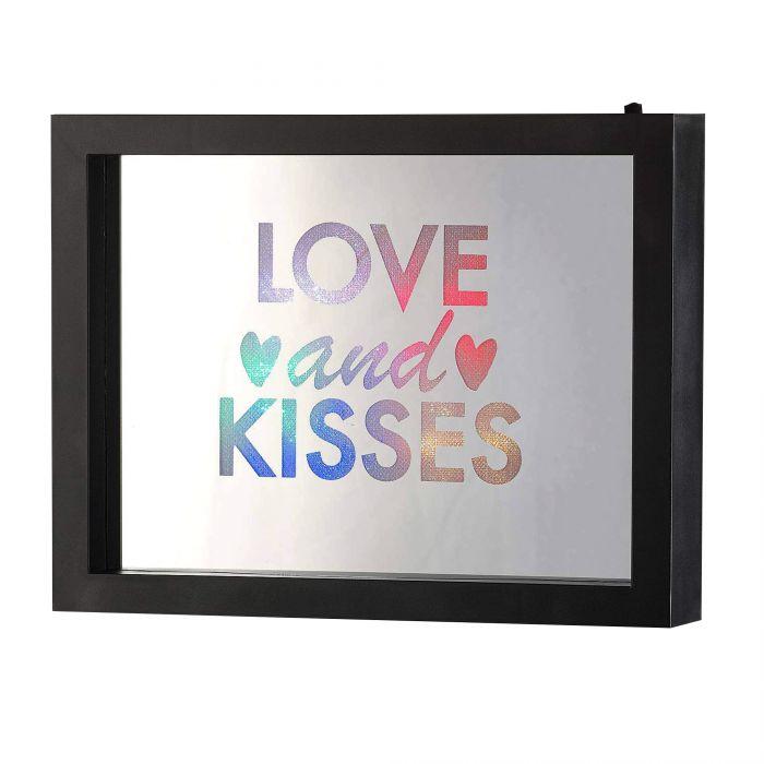 LED Rahmen mit Farbwechsel - Love And Kisses