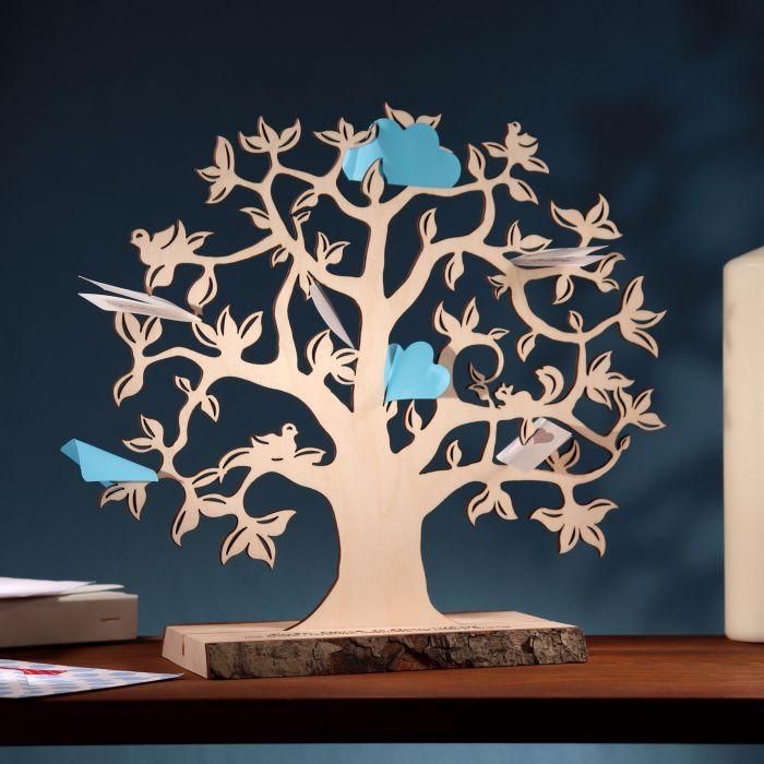 Baum mit Sockel graviert - Geburt (klein)