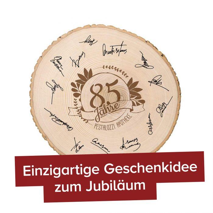 XXL Baumscheibe mit Gravur - Jubiläum
