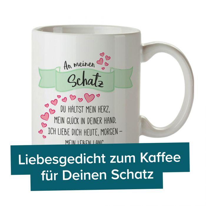 Romantische Tasse An Meinen Schatz Aus Keramik Weiss